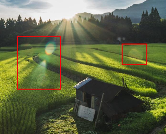 8658fe644fd680eba2355932fe8db7ac Photoshop(フォトショップ)を使って写真の太陽光やゴースト・レンズフレアを消すレタッチテクニックを解説!!   [ゴースト・フレアの除去]