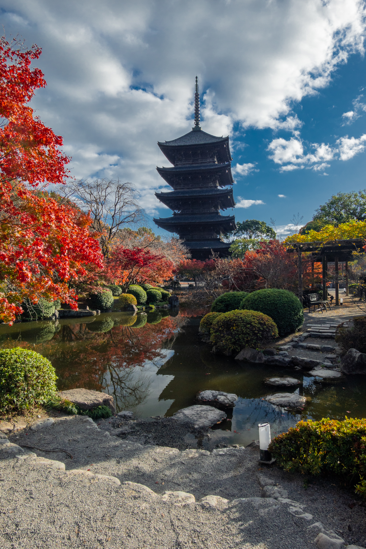 DSC01529 京都  東寺  Kyoto Toji Temple( 2019年 京都の秋、紅葉の庭園が美しいおすすめの写真スポット・アクセス情報や交通手段など!)