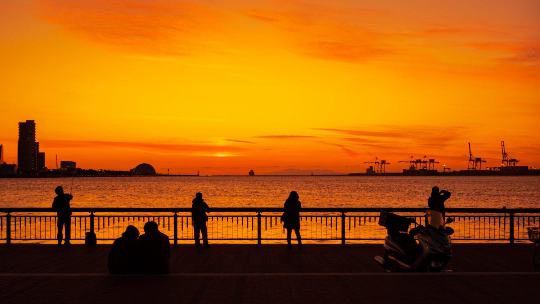 DSC02430-e1578491039859 大阪府 大阪港ダイヤモンドポイント   (大阪随一の夕日と夜景を撮影できるおすすめの写真スポット!アクセス情報や駐車場・交通手段などまとめ!)