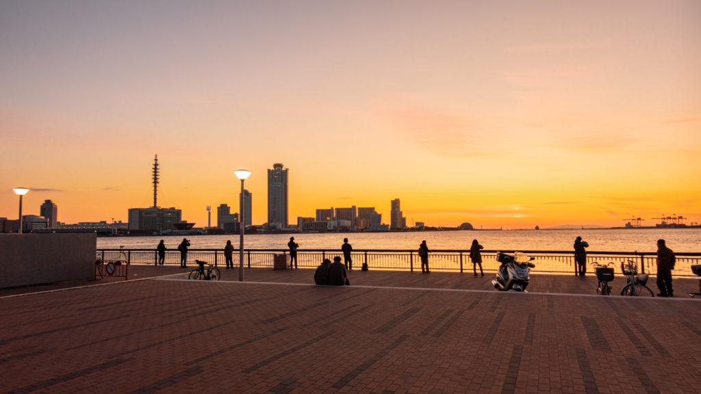 DSC02434-1024x576 大阪府 大阪港ダイヤモンドポイント   (大阪随一の夕日と夜景を撮影できるおすすめの写真スポット!撮影した写真の紹介、アクセス情報や駐車場・交通手段などまとめ!)