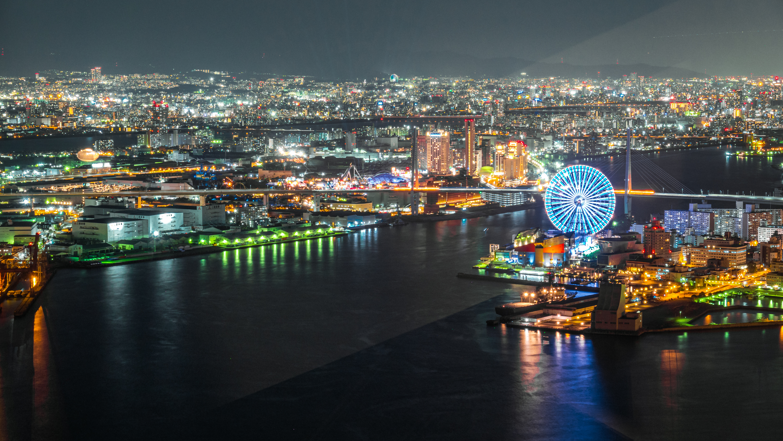 DSC02438 大阪  咲洲庁舎展望台・コスモタワー (大阪港と大阪の街を一望できる夜景にもおすすめの写真スポット!アクセス情報や交通手段などまとめ!)