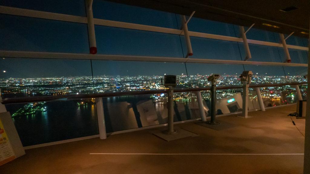 DSC02442-1024x576 大阪  咲洲庁舎展望台・コスモタワー (大阪港と大阪の街を一望できる夜景にもおすすめの写真スポット!撮影した写真の紹介、アクセス情報や交通手段などまとめ!)