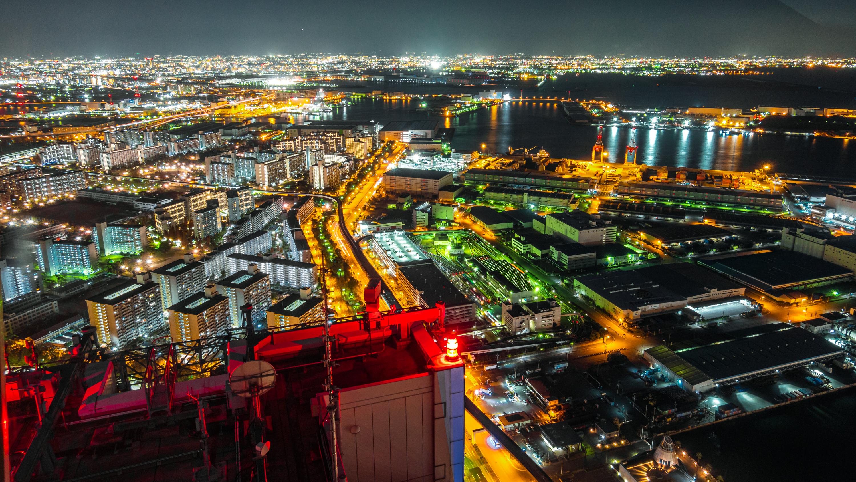 DSC02443 大阪  咲洲庁舎展望台・コスモタワー (大阪港と大阪の街を一望できる夜景にもおすすめの写真スポット!撮影した写真の紹介、アクセス情報や交通手段などまとめ!)