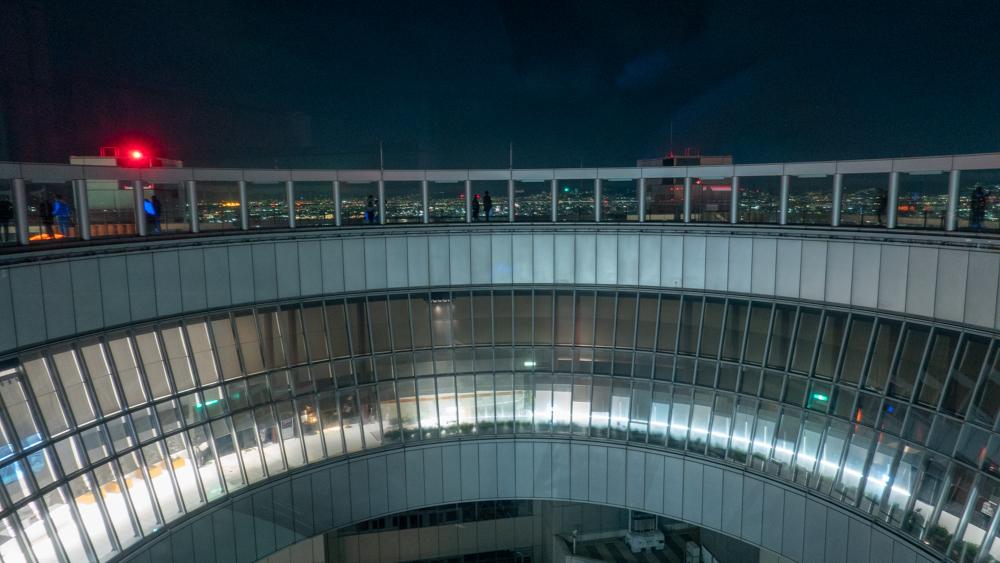 DSC02479-1 【大阪府】梅田スカイビル空中庭園展望台 (大阪の街を一望できる夜景におすすめの写真スポット!撮影した写真の紹介、スカイビルまでの行き方や駐車場などまとめ!)