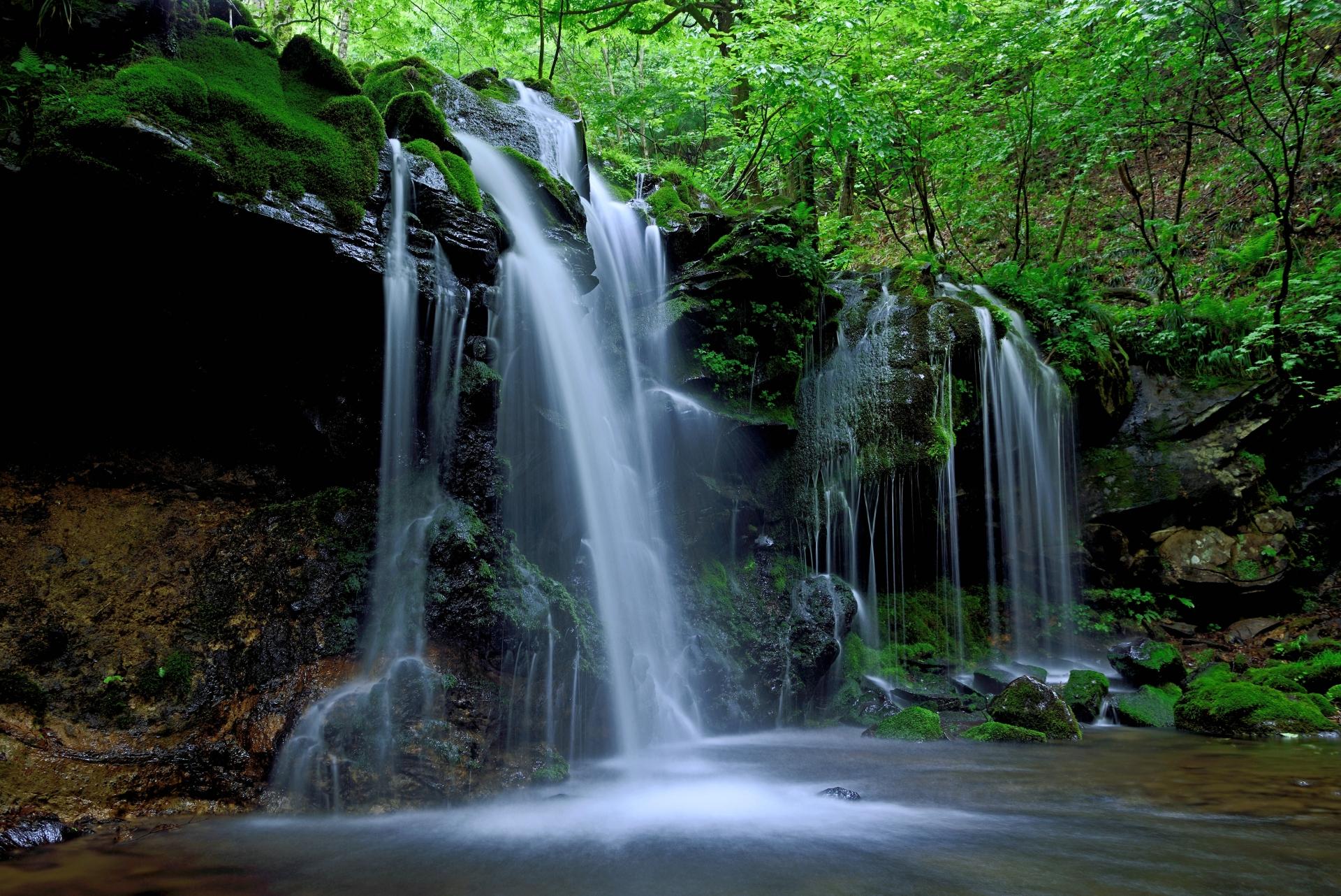 4099053_m 兵庫県 猿壺の滝(新緑の時期におすすめの秘境滝スポット!写真の紹介、アクセス情報など)