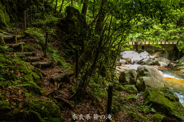 P1001069 奈良県 笹の滝 (十津川村の奥にある秘境の滝! 奈良の夏におすすめ写真撮影スポット! 写真の紹介、アクセス情報など)