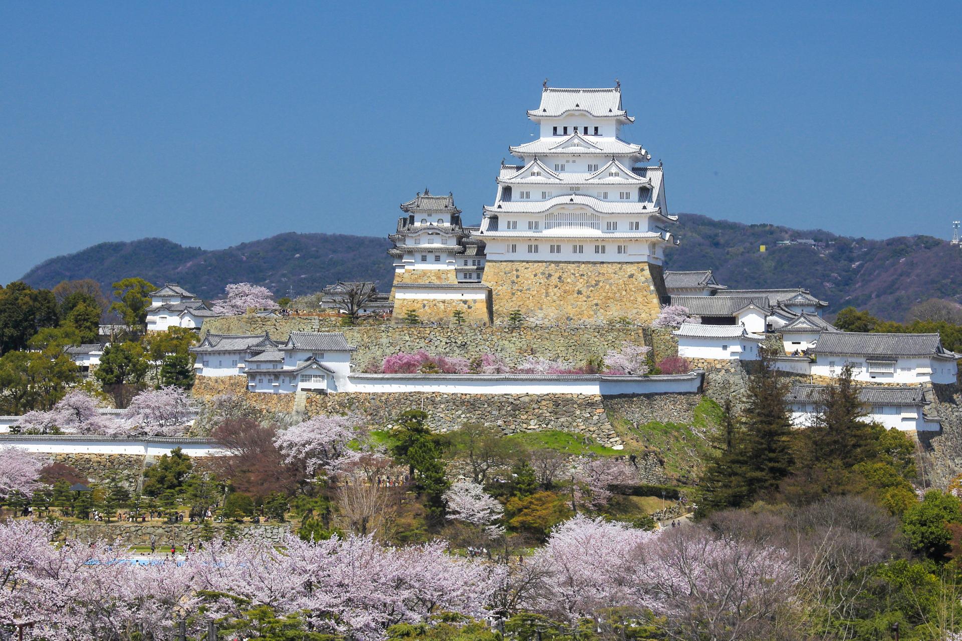 2134762_m-1 兵庫県  姫路城(桜と城の景色が美しい春におすすめのスポット! 写真の紹介、アクセス情報や駐車場情報など)